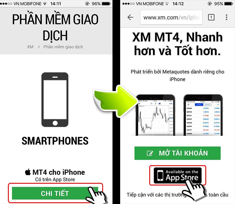 XM MT4 smartphone